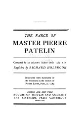 The Farce of Master Pierre Patelin