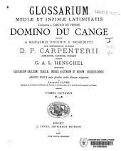 Glossarium mediae et infimae latinitatis: Volume 8