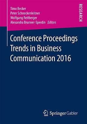 Conference Proceedings Trends in Business Communication 2016 PDF