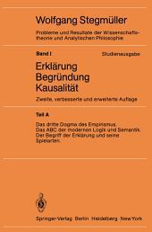 Das dritte Dogma des Empirismus Das ABC der modernen Logik und Semantik Der Begriff der Erklärung und seine Spielarten: Ausgabe 2