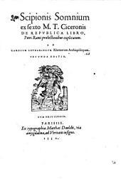 Scipionis Somnium, ex sexto M. T. Ciceronis de Republica libro