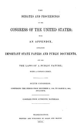 Annals of the Congress of the United States PDF