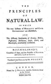 The Principles of Natural Law ... Translated ... by Mr. Nugent