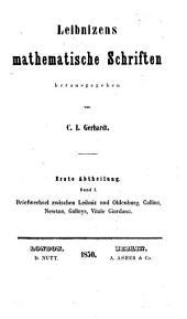 Leibnizens mathematische Schriften: Bände 4-5