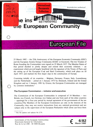 The Institutions of the European Community PDF