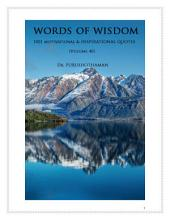 Words of Wisdom (Volume 40): 1001 Quotes & Quotations