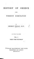 Greece under the Romans  etc  Second edition PDF
