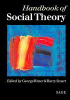 Handbook of Social Theory PDF