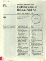 Implementation of Helsinki Final Act PDF