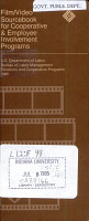 Film video Sourcebook for Cooperative   Employee Involvement Programs PDF