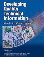 Developing Quality Technical Information PDF