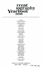 Current Biography Yearbook 2000
