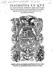 Pragmatica en que Su Magestad manda que de aqui adelante aya en su casa y corte, seijs alcaldes. Y dala orden que han de tener en conocer de los negocios y causas ciuiles y criminales (ddto 12. Deziembre 1583.)