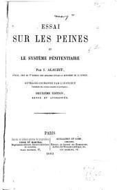 Essai sur les peines et le système pénitentiaire