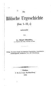 Die biblische Urgeschichte  Gen  1 12  5  PDF