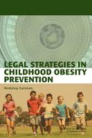 Legal Strategies in Childhood Obesity Prevention PDF