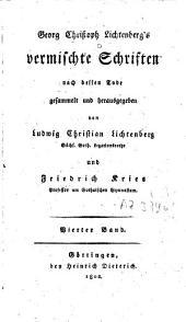 Vermischte Schriften: Band 4