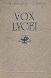 Vox Lycei Fall 1914