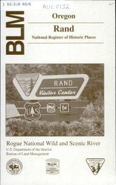 BLM, Oregon, Rand, national register of historic places: Rogue National Wild and Scenic River