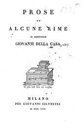 Prose ed alcune rime di Monsignor Giovanni della Casa ...
