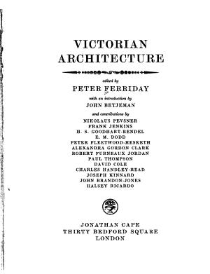 Victorian Architecture PDF