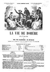 La vie de bohème: pièce en cinq actes