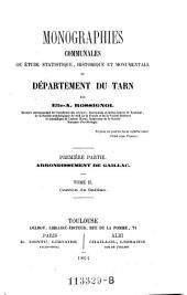 Arrondissement de Gaillac ; Tome 2. Canton de Gaillac: Volumes1à2