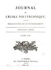 Journal de l'Ecole Polytechnique: Volume13