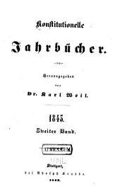 Konstitutionelle jahrbücher: Teil 2
