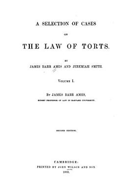 A Selection of Cases on the Law of Torts PDF