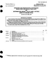 Operator's and Organizational Maintenance Repair Parts and Special Tools Lists for Distribution Boxes J-1077/U and J-1077A/U, (NSN 6110-00-985-7574).