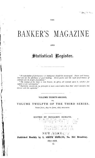 Download The Bankers Magazine and Statistical Register Book
