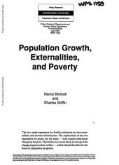Population Growth, Externalities, and Poverty