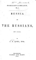 Russia and the Russians  in 1842 PDF