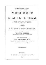 Shakespeare quarto Facsimiles  Midsummer night s dream     2  quarto PDF