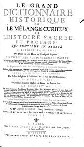 Le grand dictionnaire historique ou Le mélange curieux de l'histoire sacrée et profane...: Volume5