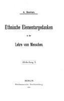 Ethnische Elementargedanken in der Lehre vom Menschen PDF