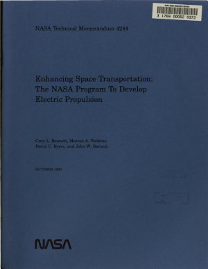 Enhancing Space Transportation: The NASA Program to Develop Electric Propulsion