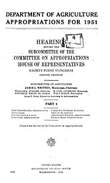 Hearings Before Subcommittee of House Committee on Appropriations PDF