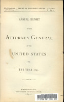 Annual Report of the Attorney General of the United States for the Year 1891 PDF