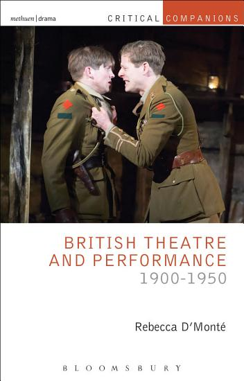 British Theatre and Performance 1900 1950 PDF