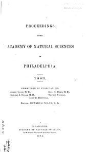 Proceedings of the Academy of Natural Sciences of Philadelphia: Volume 35