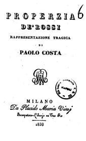 Properzia de' Rossi rappresentazione tragica di Paolo Costa