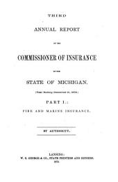 Report of the Commissioner of Insurance