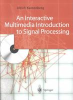 An Interactive Multimedia Introduction to Signal Processing PDF