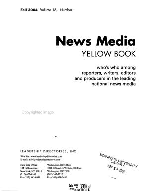 News Media Yellow Book