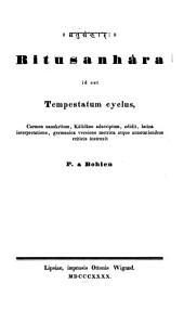 Ritusanhara: id est tempestatum cyclus