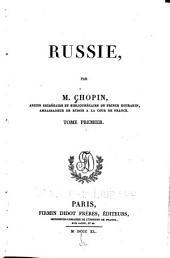 Russie: Volume1