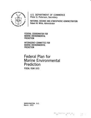 Federal Plan for Marine Environmental Prediction PDF
