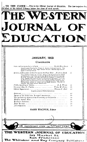 Western Journal of Education: Volume 8